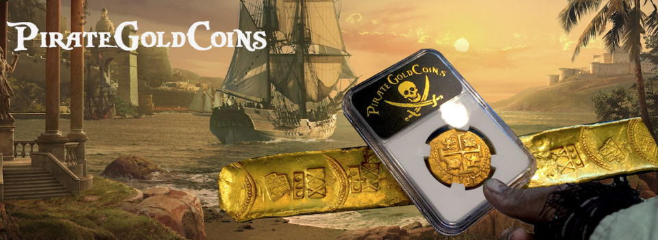 A welcome banner for PirateGoldCoins