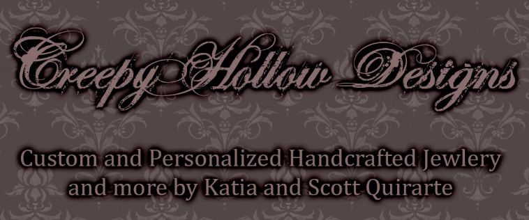 A welcome banner for Creepy Hollow Designs