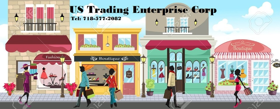 A welcome banner for U.S Trading Enterprise's booth