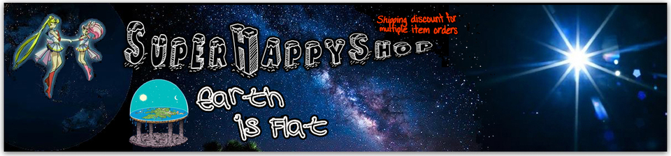 A welcome banner for SuperHappyShop