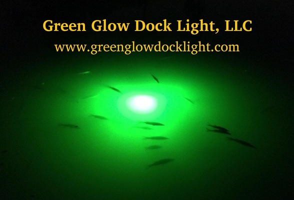 A welcome banner for Green Glow Dock Light, LLC Booth