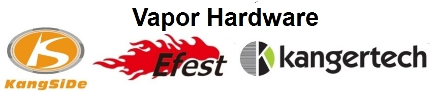 A welcome banner for Vapor Hardware