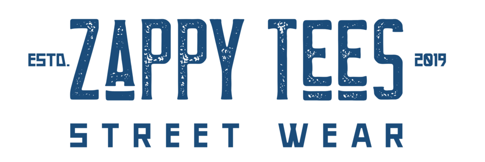 A welcome banner for Zappy Tees