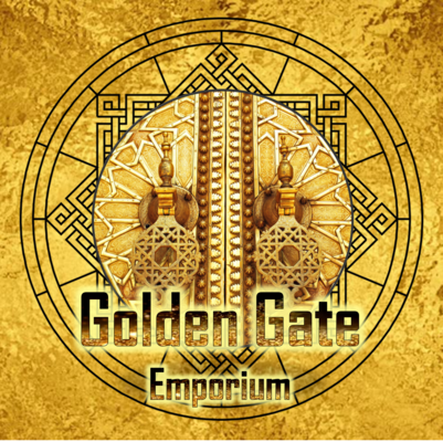 A welcome banner for Golden Gate Emporium