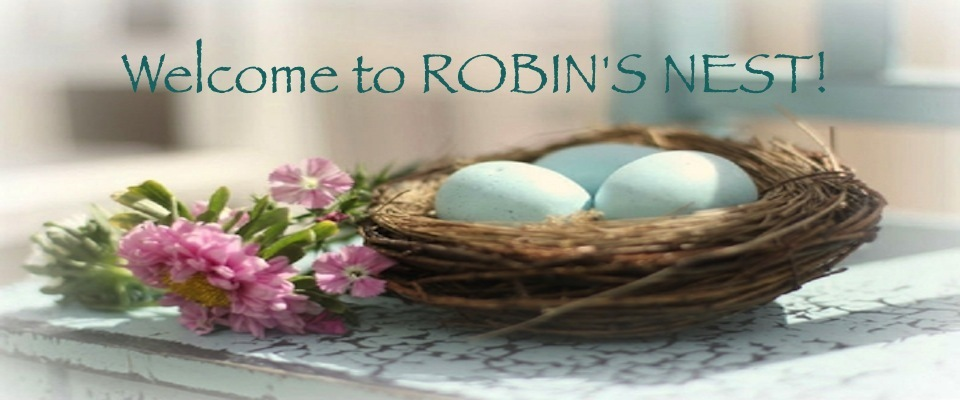 A welcome banner for Robin's Nest