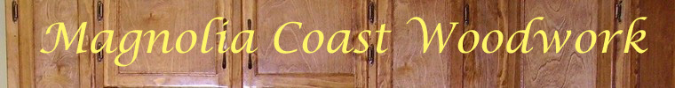 A welcome banner for Magnolia Coast Wood's booth