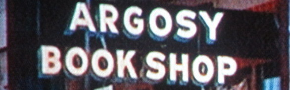 A welcome banner for Argosy Book Shop