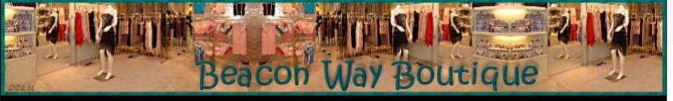 A welcome banner for Beacon Way Boutique