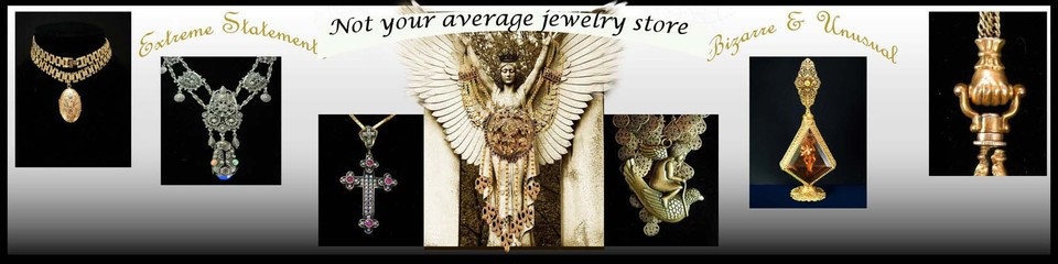 A welcome banner for VintageSparkles estate and costume jewelry and antiques