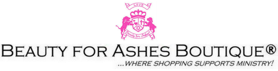 A welcome banner for Beauty for Ashes Boutique