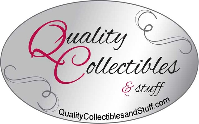 A welcome banner for Quality Collectibles And Stuff