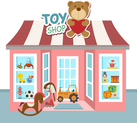 A welcome banner for Taters Toy Shoppe