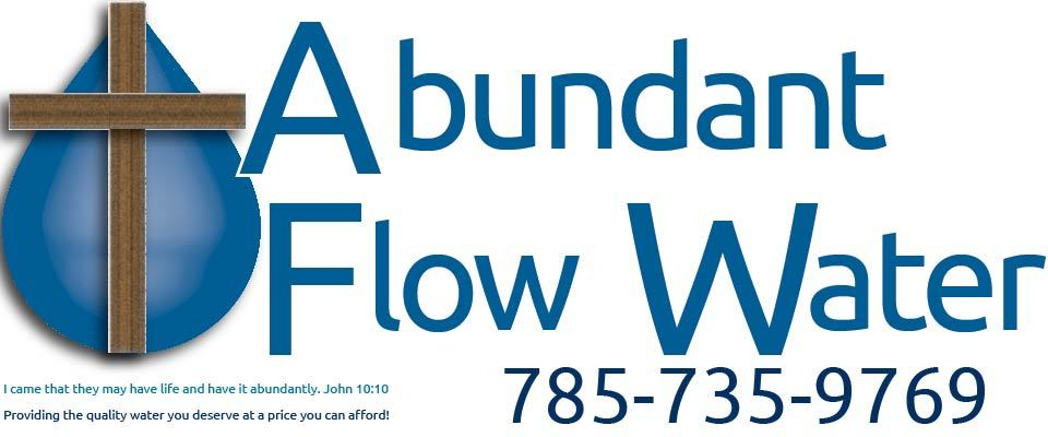 A welcome banner for Abundant Flow Water Systems