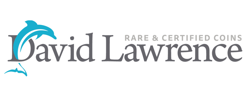 A welcome banner for David Lawrence Rare Coins Booth