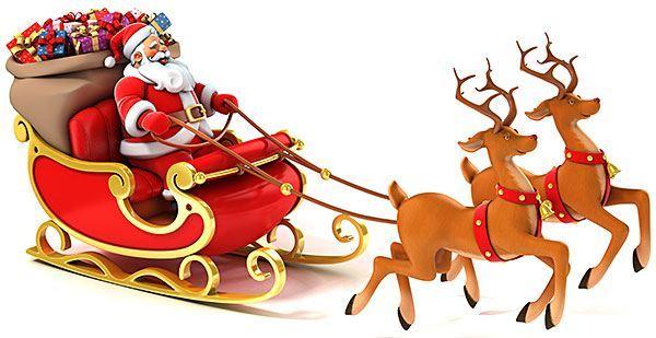 Santa on sleigh thumb960