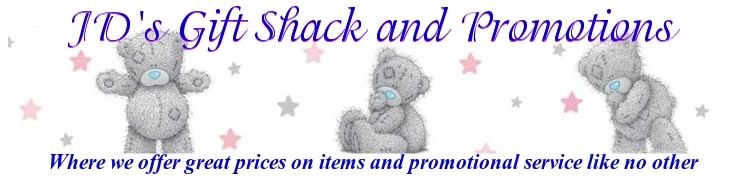 A welcome banner for JDsGiftShackandPromotions