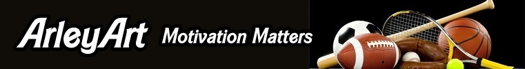 A welcome banner for ArleyArt - Motivation Matters & Other Stuff