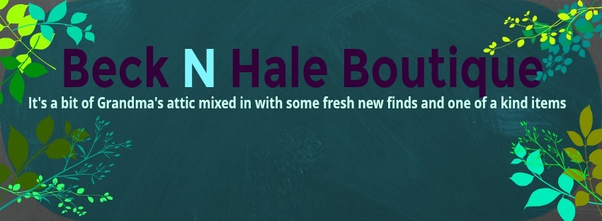A welcome banner for Beck N Hale Boutique