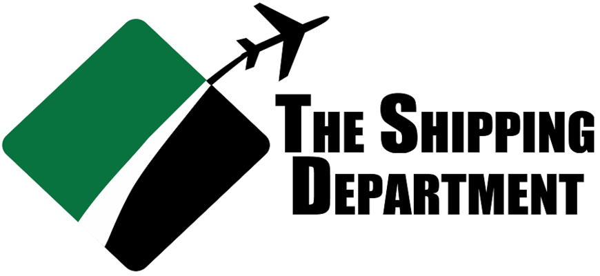 A welcome banner for The Shipping Department