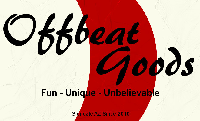 A welcome banner for Offbeat Goods