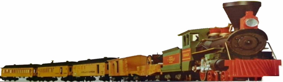 A welcome banner for American Flyer Train Parts