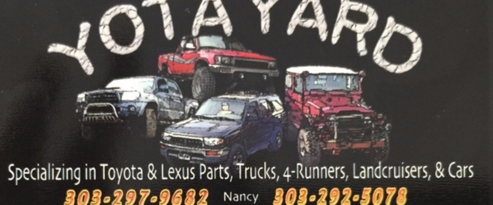 A welcome banner for YOTA YARD / TOYOTA AND LEXUS PARTS booth