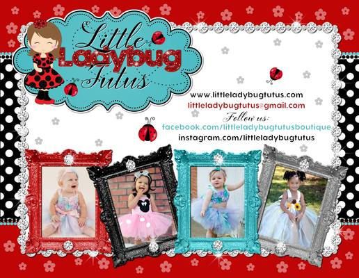 A welcome banner for Little Ladybug Tutus