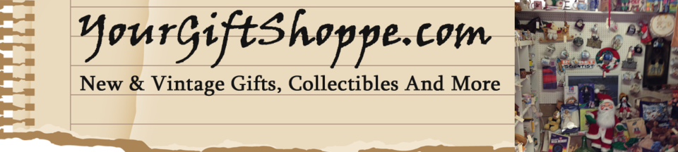 A welcome banner for Your GiftShoppe's Booth