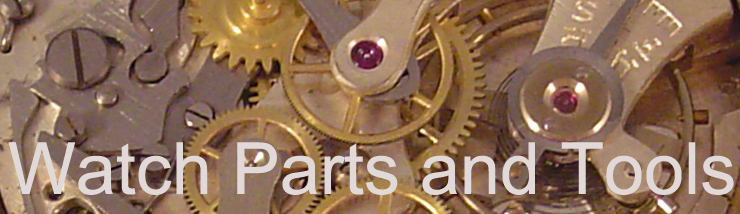 A welcome banner for timebymail UK - watch parts and spares