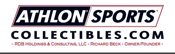 A welcome banner for Athlon Sports Collectibles