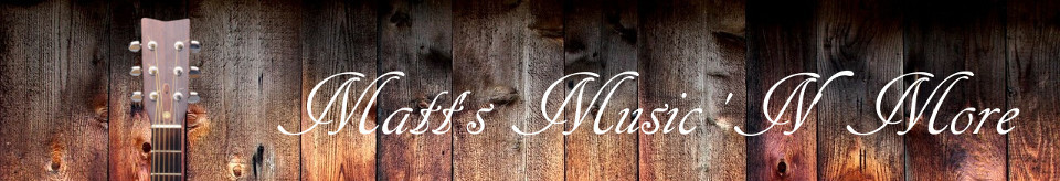 A welcome banner for Matthew's store