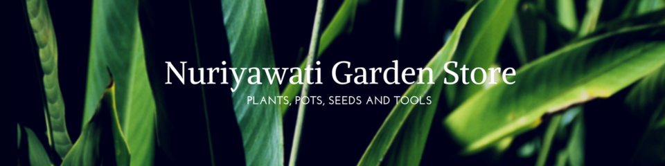 A welcome banner for nuriyawati garden store