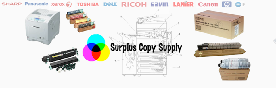 A welcome banner for Surplus Copy Supply