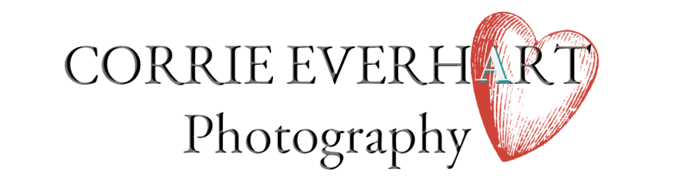 A welcome banner for Corrie Everhart Photography