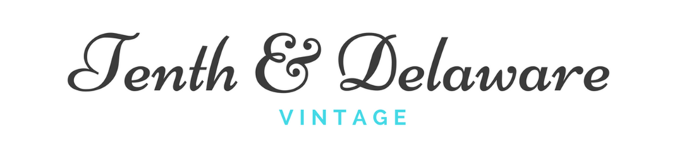 A welcome banner for Tenth and Delaware Vintage