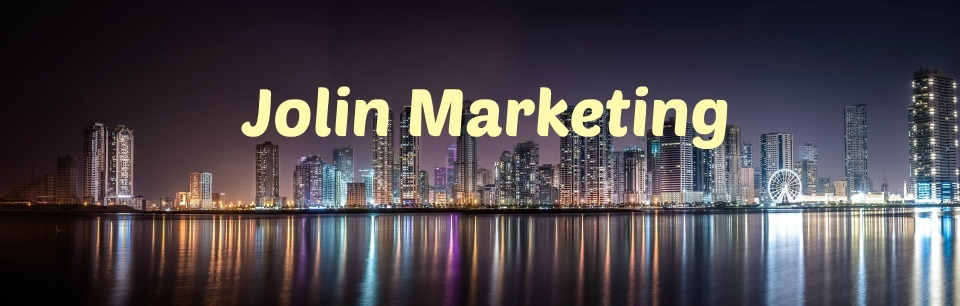 A welcome banner for Jolin Marketing