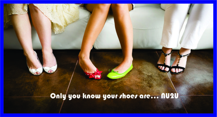 A welcome banner for NU2U Shoes & more