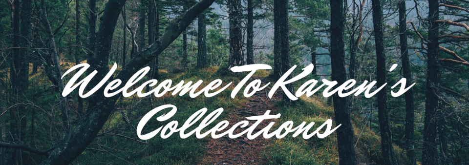 A welcome banner for Karen's Collections