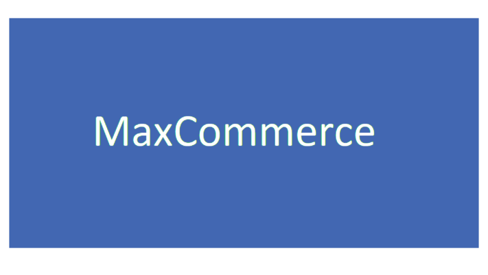 A welcome banner for MaxCommerce