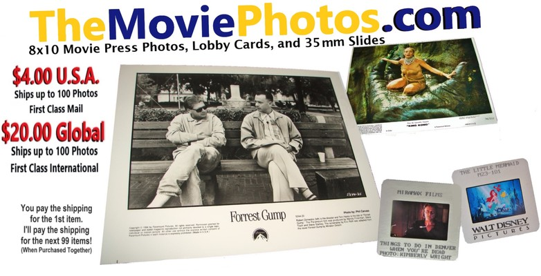 A welcome banner for TheMoviePhotos.com  Vintage Hollywood Press Photos, Lobby Cards, and 35mm Slides