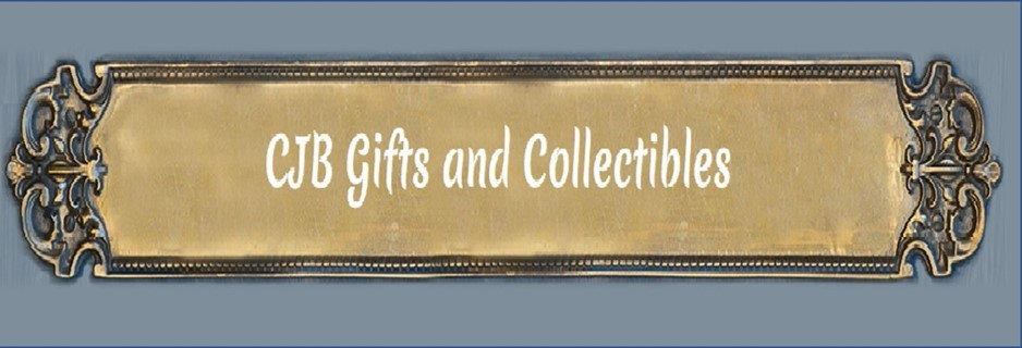 A welcome banner for CJB Gifts and Collectibles
