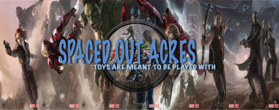 A welcome banner for Spaced Out Acres