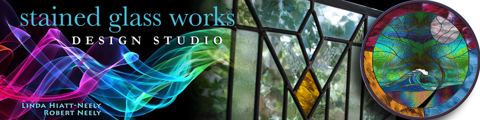 A welcome banner for Stained Glass Works Design Studio