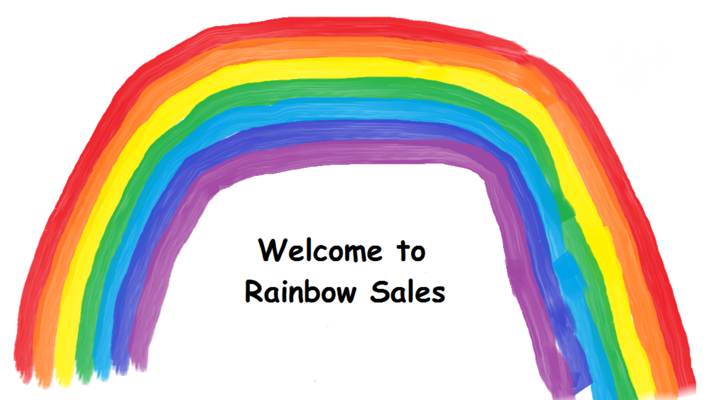 A welcome banner for Rainbow_Sales