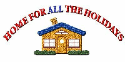 A welcome banner for Home For ALL The Holidays