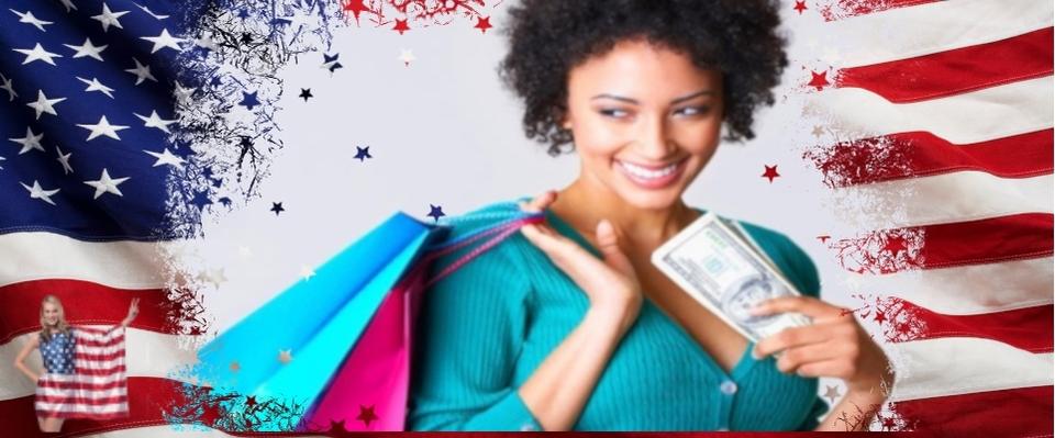 American flag  2  woman shopping thumb960