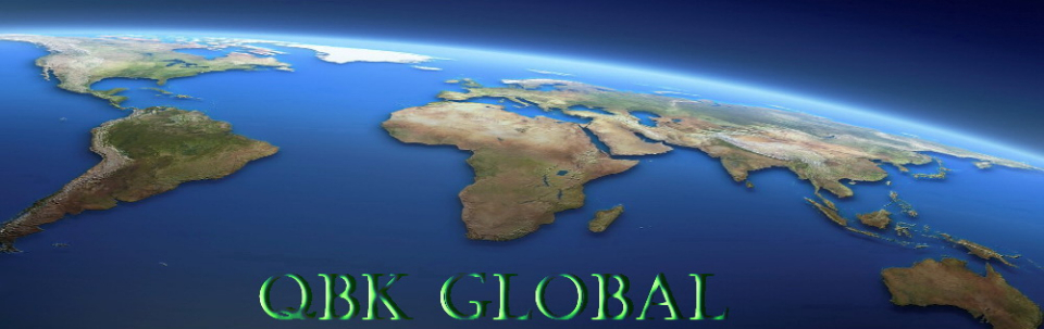 A welcome banner for QBKGLOBAL