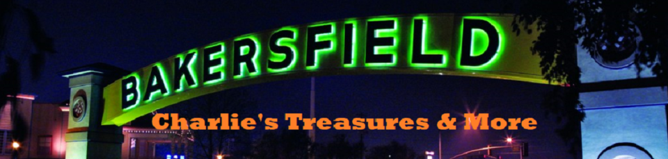 A welcome banner for Charlie's Treasures and More