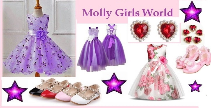 A welcome banner for MollyGirlsWorld' booth