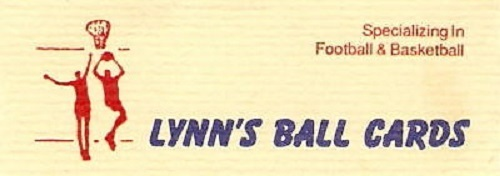 A welcome banner for Lynn's Ballcards